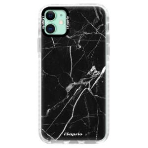 Silikonové pouzdro Bumper iSaprio - Black Marble 18 na mobil Apple iPhone 11