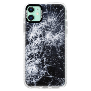 Silikonové pouzdro Bumper iSaprio - Cracked na mobil Apple iPhone 11