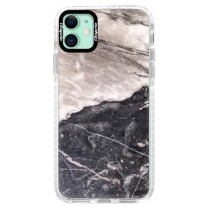 Silikonové pouzdro Bumper iSaprio - BW Marble na mobil Apple iPhone 11