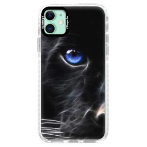 Silikonové pouzdro Bumper iSaprio - Black Puma na mobil Apple iPhone 11