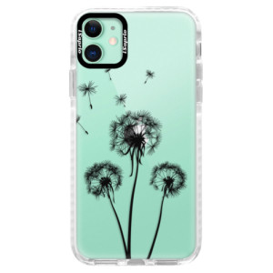 Silikonové pouzdro Bumper iSaprio - Three Dandelions - black na mobil Apple iPhone 11