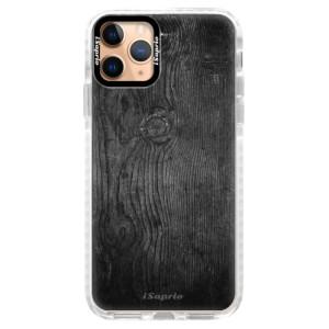 Silikonové pouzdro Bumper iSaprio - Black Wood 13 na mobil Apple iPhone 11 Pro