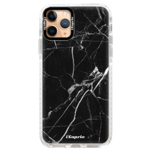 Silikonové pouzdro Bumper iSaprio - Black Marble 18 na mobil Apple iPhone 11 Pro