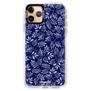 Silikonové pouzdro Bumper iSaprio - Blue Leaves 05 na mobil Apple iPhone 11 Pro