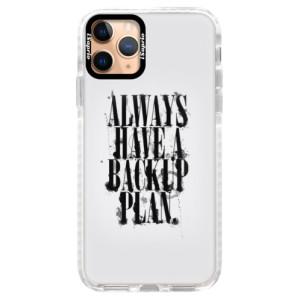 Silikonové pouzdro Bumper iSaprio - Backup Plan na mobil Apple iPhone 11 Pro