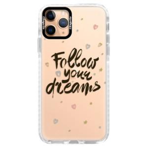 Silikonové pouzdro Bumper iSaprio - Follow Your Dreams - black na mobil Apple iPhone 11 Pro