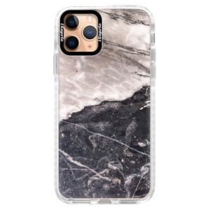 Silikonové pouzdro Bumper iSaprio - BW Marble na mobil Apple iPhone 11 Pro