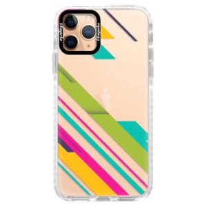 Silikonové pouzdro Bumper iSaprio - Color Stripes 03 na mobil Apple iPhone 11 Pro