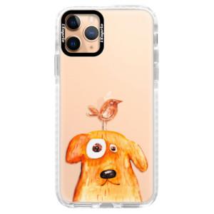 Silikonové pouzdro Bumper iSaprio - Dog And Bird na mobil Apple iPhone 11 Pro