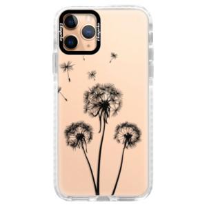 Silikonové pouzdro Bumper iSaprio - Three Dandelions - black na mobil Apple iPhone 11 Pro