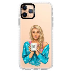 Silikonové pouzdro Bumper iSaprio - Coffe Now - Blond na mobil Apple iPhone 11 Pro