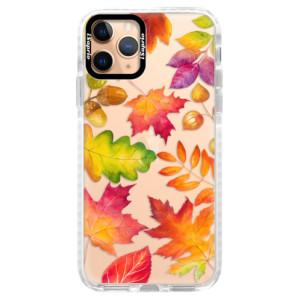 Silikonové pouzdro Bumper iSaprio - Autumn Leaves 01 na mobil Apple iPhone 11 Pro