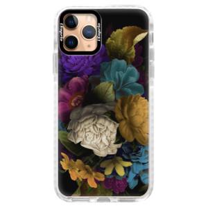 Silikonové pouzdro Bumper iSaprio - Dark Flowers na mobil Apple iPhone 11 Pro