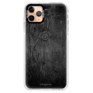 Silikonové pouzdro Bumper iSaprio - Black Wood 13 na mobil Apple iPhone 11 Pro Max