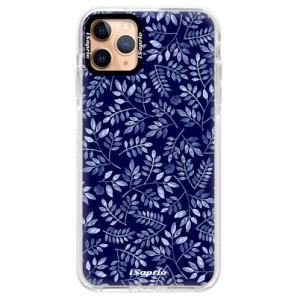 Silikonové pouzdro Bumper iSaprio - Blue Leaves 05 na mobil Apple iPhone 11 Pro Max