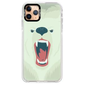 Silikonové pouzdro Bumper iSaprio - Angry Bear na mobil Apple iPhone 11 Pro Max