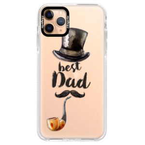 Silikonové pouzdro Bumper iSaprio - Best Dad na mobil Apple iPhone 11 Pro Max