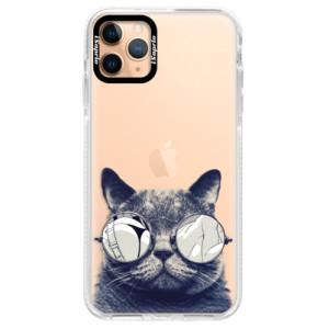 Silikonové pouzdro Bumper iSaprio - Crazy Cat 01 na mobil Apple iPhone 11 Pro Max