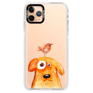 Silikonové pouzdro Bumper iSaprio - Dog And Bird na mobil Apple iPhone 11 Pro Max