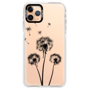 Silikonové pouzdro Bumper iSaprio - Three Dandelions - black na mobil Apple iPhone 11 Pro Max