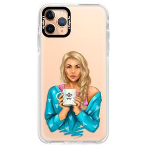 Silikonové pouzdro Bumper iSaprio - Coffe Now - Blond na mobil Apple iPhone 11 Pro Max