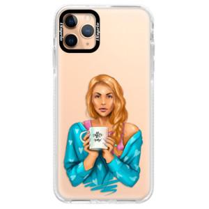 Silikonové pouzdro Bumper iSaprio - Coffe Now - Redhead na mobil Apple iPhone 11 Pro Max