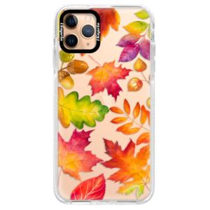 Silikonové pouzdro Bumper iSaprio - Autumn Leaves 01 na mobil Apple iPhone 11 Pro Max