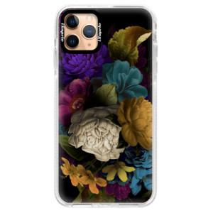 Silikonové pouzdro Bumper iSaprio - Dark Flowers na mobil Apple iPhone 11 Pro Max