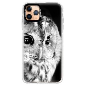 Silikonové pouzdro Bumper iSaprio - BW Owl na mobil Apple iPhone 11 Pro Max