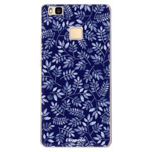 Odolné silikonové pouzdro iSaprio - Blue Leaves 05 na mobil Huawei P9 Lite