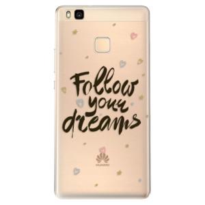 Odolné silikonové pouzdro iSaprio - Follow Your Dreams - black na mobil Huawei P9 Lite
