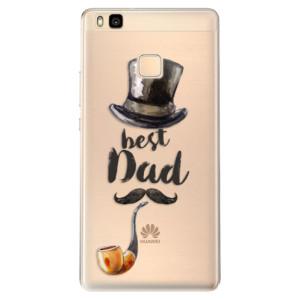 Odolné silikonové pouzdro iSaprio - Best Dad na mobil Huawei P9 Lite