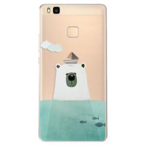 Odolné silikonové pouzdro iSaprio - Bear With Boat na mobil Huawei P9 Lite