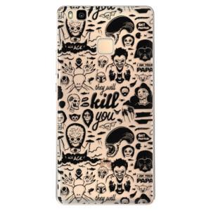 Odolné silikonové pouzdro iSaprio - Comics 01 - black na mobil Huawei P9 Lite