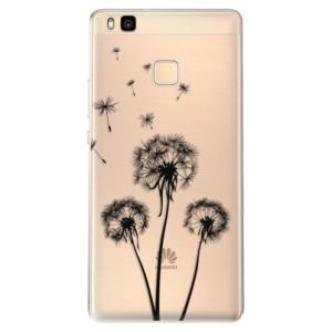 Odolné silikonové pouzdro iSaprio - Three Dandelions - black na mobil Huawei P9 Lite