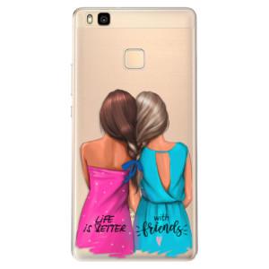 Odolné silikonové pouzdro iSaprio - Best Friends na mobil Huawei P9 Lite