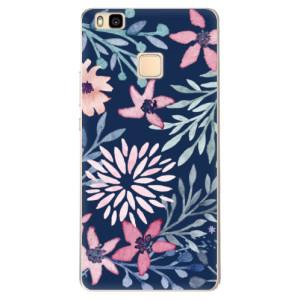 Odolné silikonové pouzdro iSaprio - Leaves on Blue na mobil Huawei P9 Lite - poslední kus za tuto cenu