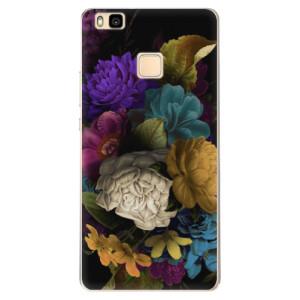 Odolné silikonové pouzdro iSaprio - Dark Flowers na mobil Huawei P9 Lite
