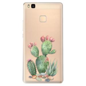 Odolné silikonové pouzdro iSaprio - Cacti 01 na mobil Huawei P9 Lite