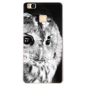Odolné silikonové pouzdro iSaprio - BW Owl na mobil Huawei P9 Lite