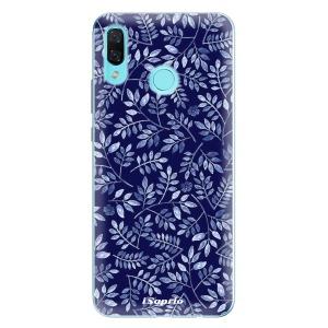 Odolné silikonové pouzdro iSaprio - Blue Leaves 05 na mobil Huawei Nova 3