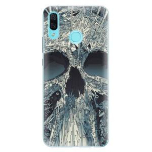 Odolné silikonové pouzdro iSaprio - Abstract Skull na mobil Huawei Nova 3
