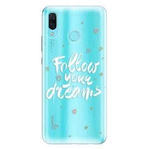 Odolné silikonové pouzdro iSaprio - Follow Your Dreams - white na mobil Huawei Nova 3