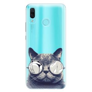 Odolné silikonové pouzdro iSaprio - Crazy Cat 01 na mobil Huawei Nova 3