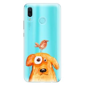Odolné silikonové pouzdro iSaprio - Dog And Bird na mobil Huawei Nova 3