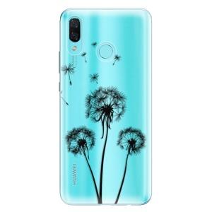 Odolné silikonové pouzdro iSaprio - Three Dandelions - black na mobil Huawei Nova 3