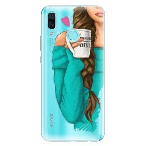Odolné silikonové pouzdro iSaprio - My Coffe and Brunette Girl na mobil Huawei Nova 3
