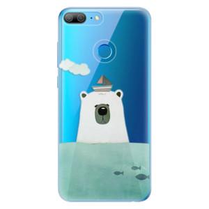 Odolné silikonové pouzdro iSaprio - Bear With Boat na mobil Honor 9 Lite