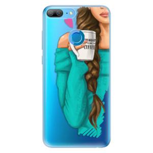 Odolné silikonové pouzdro iSaprio - My Coffe and Brunette Girl na mobil Honor 9 Lite
