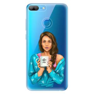 Odolné silikonové pouzdro iSaprio - Coffe Now - Brunette na mobil Honor 9 Lite